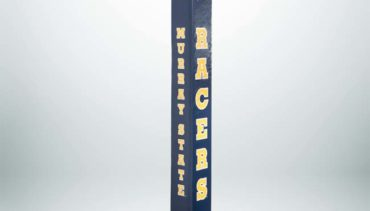 """Model #PC824MURS. Murray State University blue basketball pole pad for 4"""", 5"""" or 6"""" square poles."""