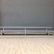 Model #B2R15. 2 Row 15 Foot Long Aluminum Bleachers.