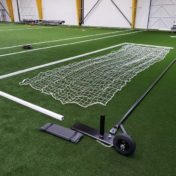 Model #SGEDELUXEWHEEL. Deluxe Soccer Shooting Goal with Wheels and Base Pads Unassembled.