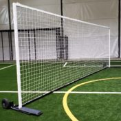 Model #SGEDELUXEWHEEL. Deluxe Soccer Shooting Goal with Wheels and Base Pads.