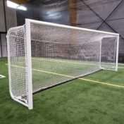 Model # MAL6618641. Custom Movable Aluminum Soccer Goal with Custom Backdepth and Cable Clip Net Attachment.