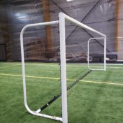 Model # MAL6618641. Custom Movable Aluminum Soccer Goal with Custom Backdepth and Cable Clip Net Attachment without Net.