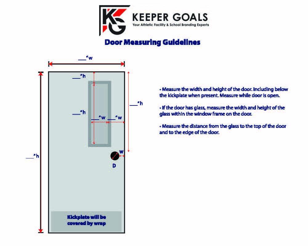 Measurement Guidelines for Single  Door Wrap