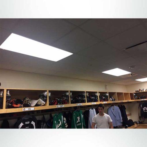 Locker room shown before school character word banding.
