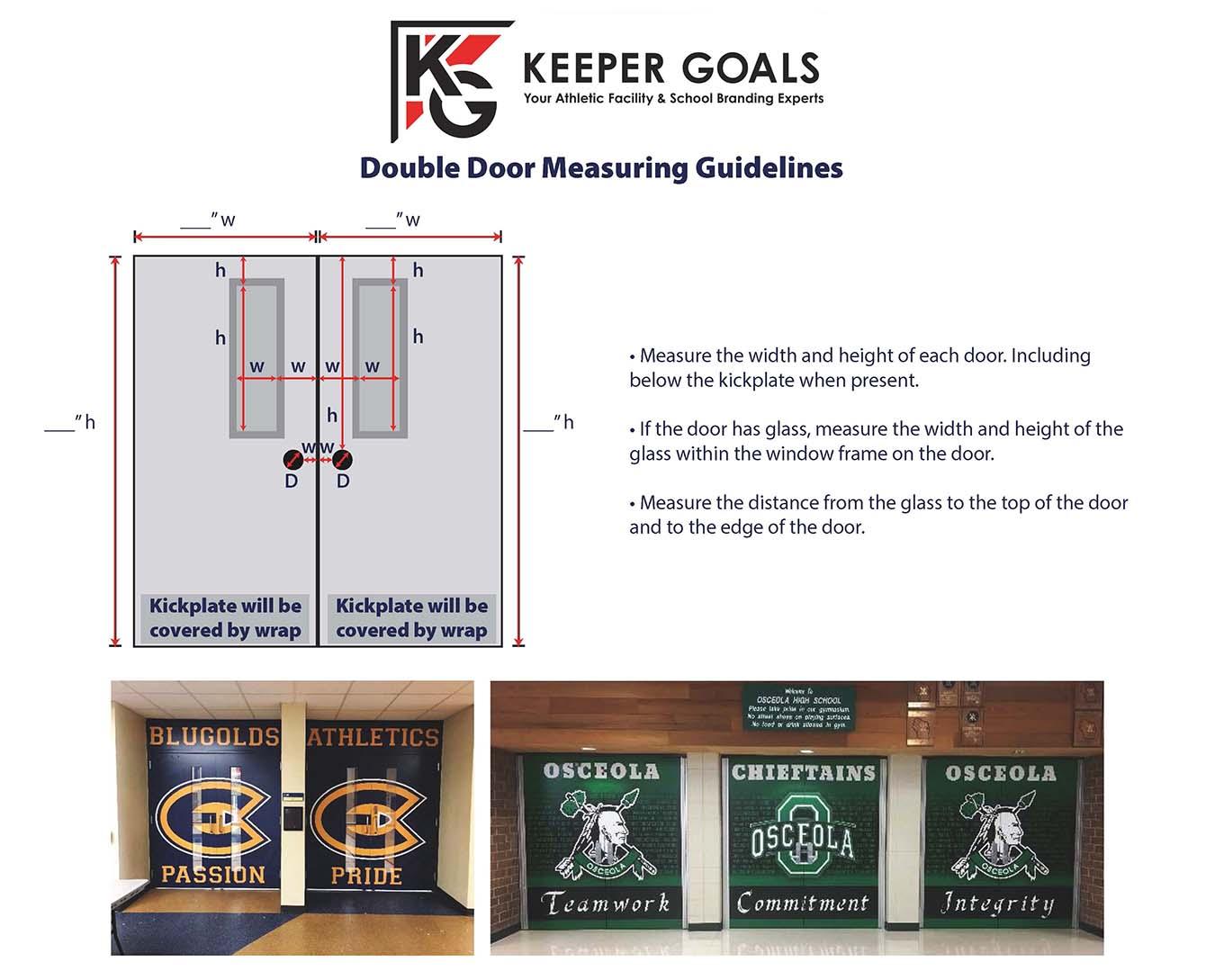 Measurement guidelines for Double Door Wrap