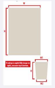 Measurement Guidelines for Custom Designed Locker Room Locker Endcaps to Brand Your School.