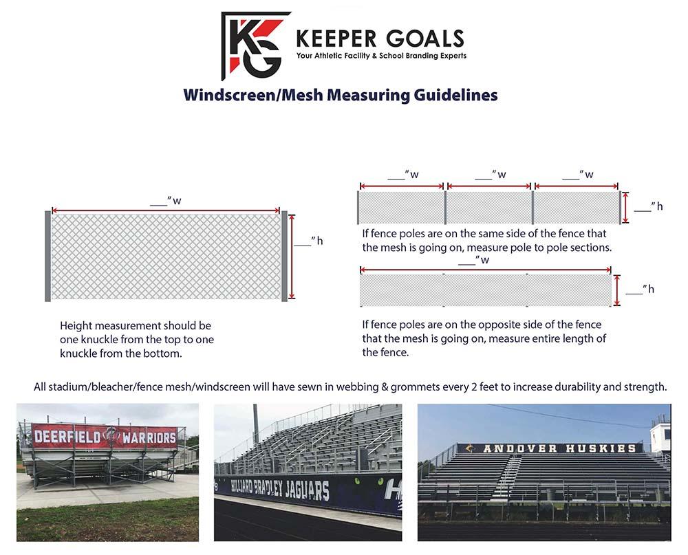 Windscreen/mesh measurement guideline sheet.