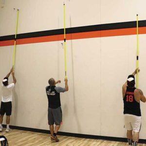 Model #BCTEN70IN. Indoor tension batting cage connect poles.