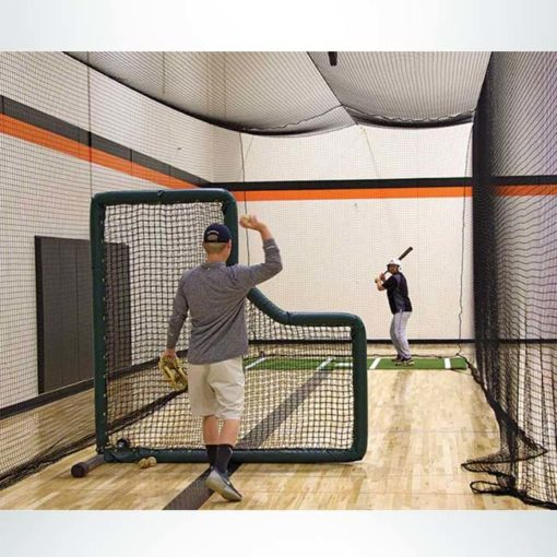 Model #BCTEN70IN. Indoor tenstion batting cage with pitching screen.