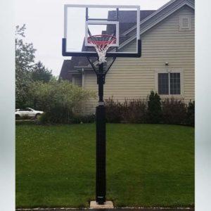 Model #CONTENDERINGL. Goalsetter Contender backyard basketball hoop.