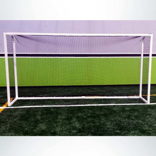 """Model #PSGE2CUSTOMBB. 2"""" aluminum custom backyard soccer goal white."""