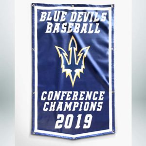 Championship banner to hang in your school gymnasium.