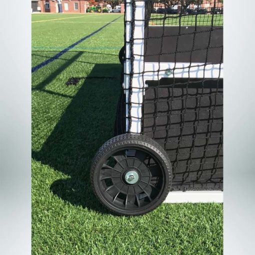 Model #FHG2AL712. Standard field hockey goal side wheel.