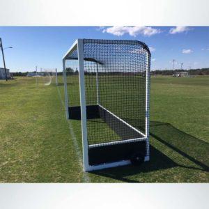 Model #FJG32AL. Pro field hockey goal side view.