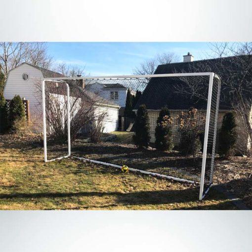 "Model #PSGE2CUSTOM. Backyard soccer goal made of 2"" aluminum."
