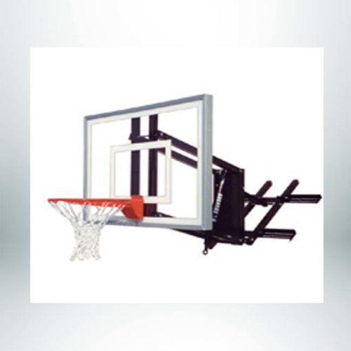 Roofmaster II wall mount basketball hoop.