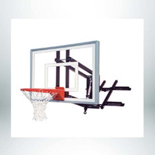 Roofmaster III wall mount basketball hoop.