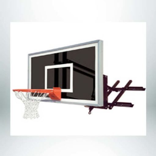 Roofmaster Eclipse wall mount basketball hoop.