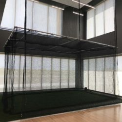 Custom golf, baseball, softball cage at rehab facility.