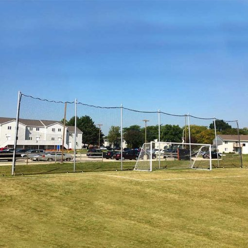 Model ##KGFSBACKAL47B42090. Movable Backstop Net for Soccer Field.