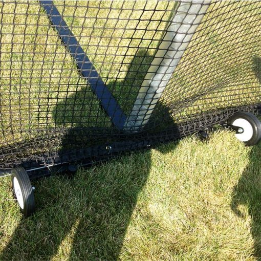 Portable free-standing backstop net base.