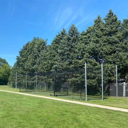 Model #BCTEN55OUT. 55' tension batting cage.