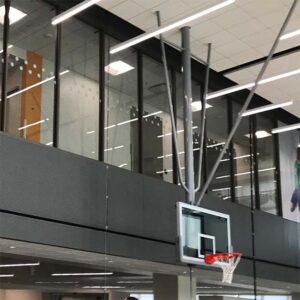 Ceiling mount basketball hoop.