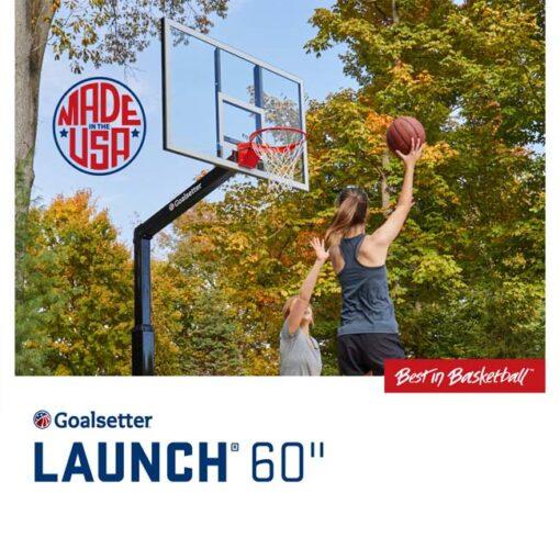 Model #GSLAUNCHPRO60. Goalsetter Launchpro basketball hoop.