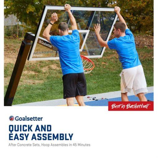 Model #GSLAUNCHPRO. Goalsetter Launchpro basketball system easy assembly.