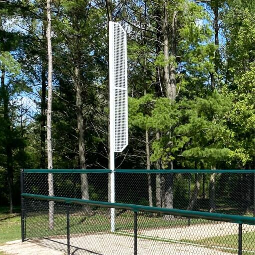 Aluminum high school foul pole.