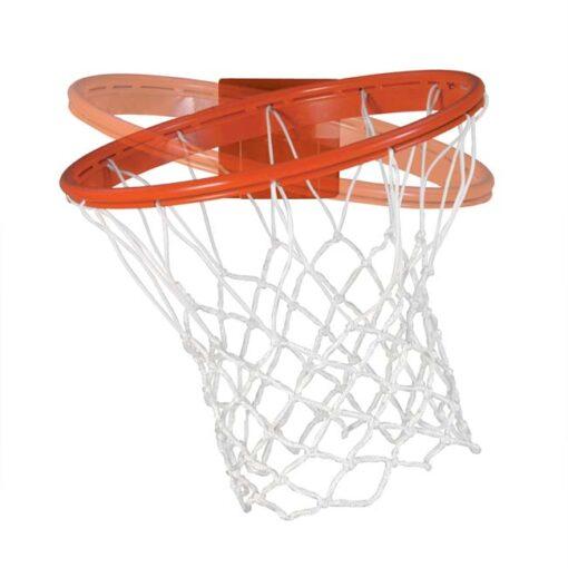 "Model #BA3180S. Bison Baseline Collegiate 180 Competition breakaway basketball goal for 42"" backboards."