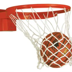 "Model #BA3180S. Bison Baseline Collegiate 180 Competition breakaway basketball goal for 42"" backboards."