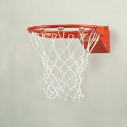 Model #BA34. Bison Tru-Flex Competition basketball goal with 1-year warranty.