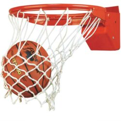 Model #BA35E. Bison Elite Plus breakaway basketball goal.