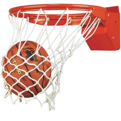Model #BA35E. Bison Elite Plus breakaway basketball goal.