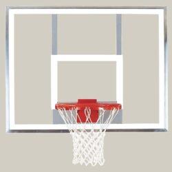 "Model #BA407U. Bison 42"" x 54"" polycarbonate basketball backboard."