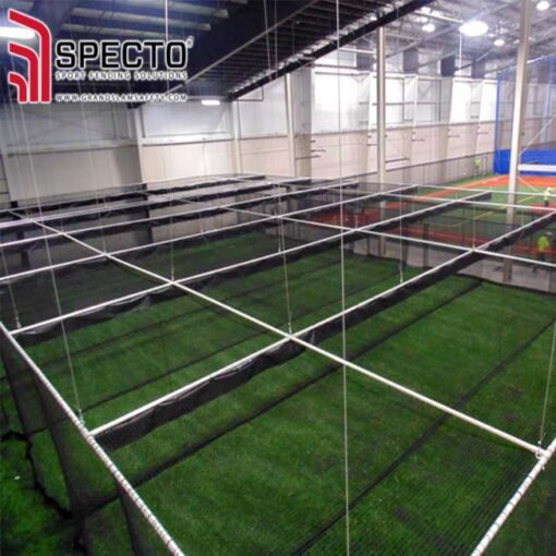 Bottom-lift batting cage.