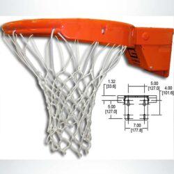 Model #GARED2500. Premium Collegiate breakaway rim with tube-tie attachment to prevent hand injury.