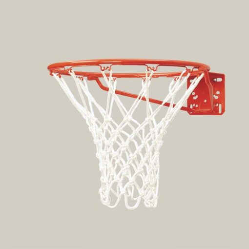 Model #KG27. Bison single rim standard front mount competition basketball goal.