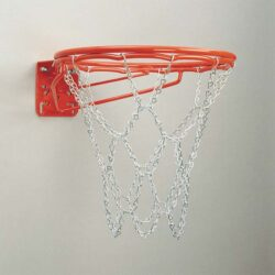 Model #KG37C. Bison double basketball goal with chain net.