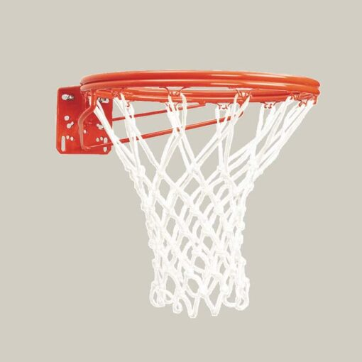 Model #KG37N. Bison double rim basketball goal with net.