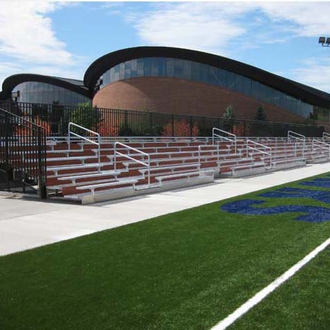 Custom bleachers for soccer and football stadium.