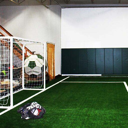 Indoor artificial turf for soccer field.