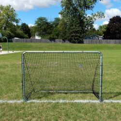 "Model #KGSTRD462. 4' x 6' budget steel soccer goal with 2"" mesh net."