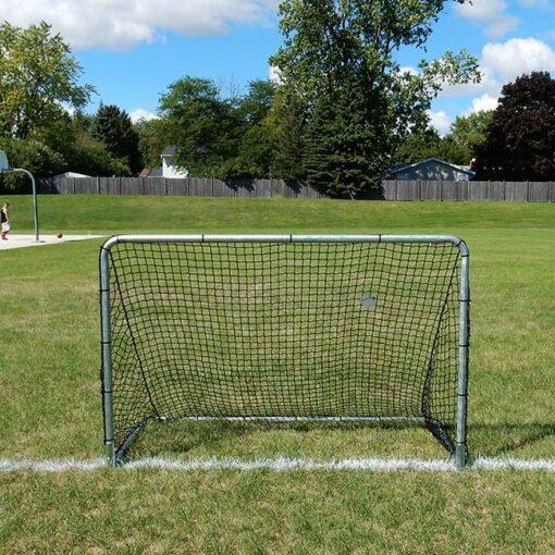 """Model #KGSTRD462. 4' x 6' budget steel soccer goal with 2"""" mesh net."""