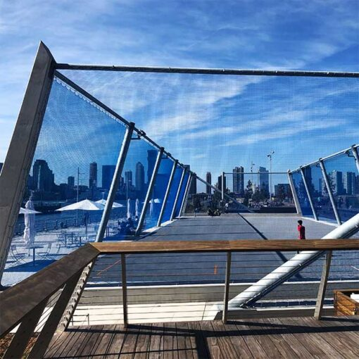 Pier 26 Chicago. Permanent barrier nets.