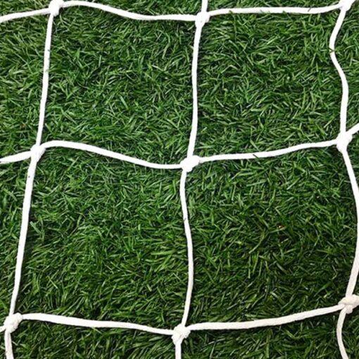 4mm braid white soccer net.