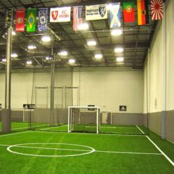 Indoor artificial turf for indoor soccer field.
