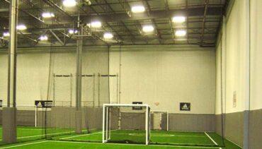 Indoor artificial turf for indoor soccer field.