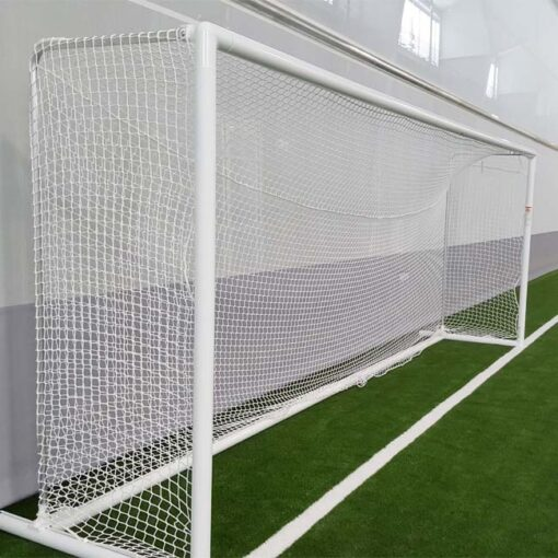 Soccer goal with custom back depth.